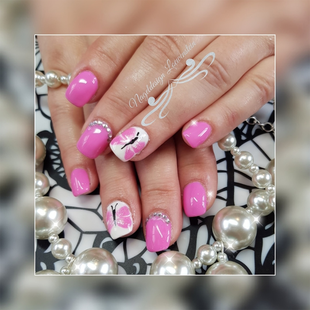 Pinke Nageldesign